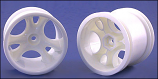 6 Spoke White Wheels