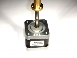 "NEMA 17 58 oz.in Linear Stepper motor with 12"" shaft and colar"