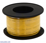 Stranded Wire: Yellow, 26 AWG, 70 Feet
