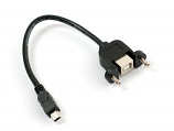 Panel Mount UBS Cable - B Female to Mini-B
