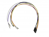 Arcade Button 5 multicolored wire quick connect with and female header - 12""