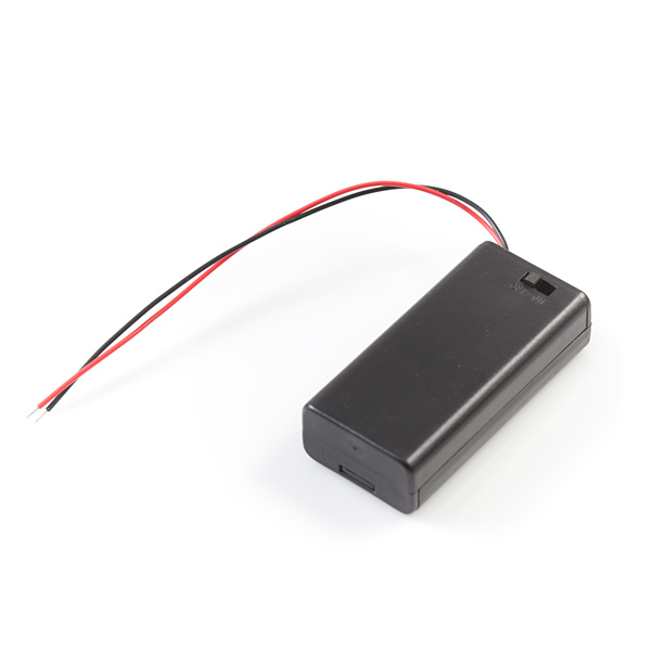 Battery Holder 2xAA with Cover and Switch