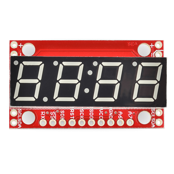 7-Segment Serial Display - Kelly Green