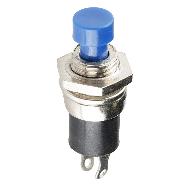 Momentary Button - Panel Mount (Blue)