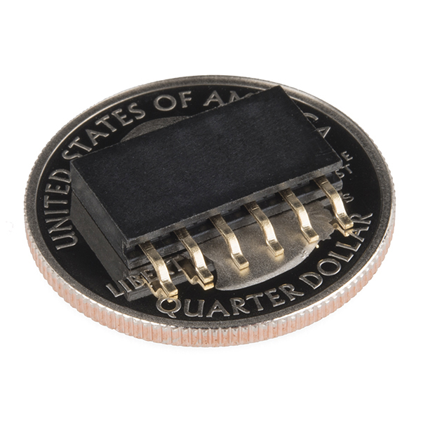 "Header - 6-pin Female (SMD, 0.1"", Right Angle)"
