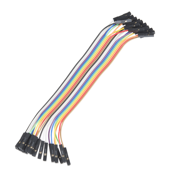 "Jumper Wires - Connected 6"" (F/F, 20 pack)"