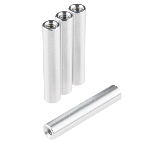 Channel Standoff - Aluminum (Threaded, 4 Pack)