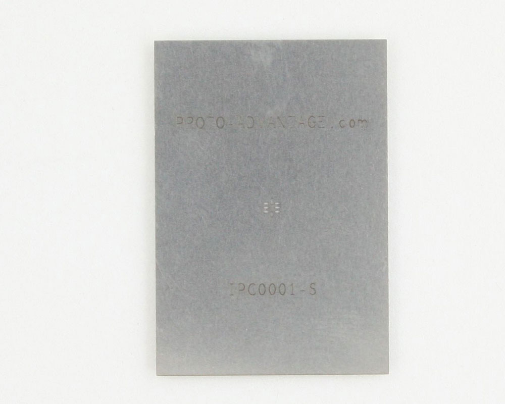 QFN-8 (0.8 mm pitch, 1.4 x 1.2 mm body) Stainless Steel Stencil