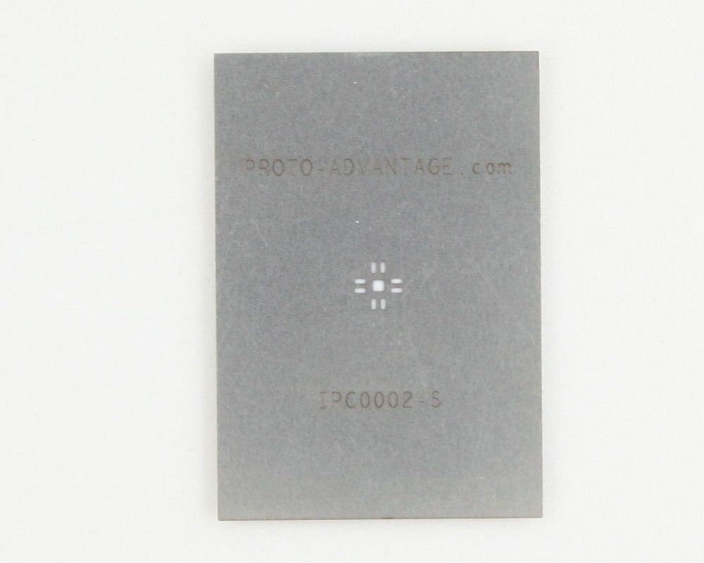 QFN-8 (0.65 mm pitch, 3 x 3 mm body, 1.1 x 1.1 mm pad) Stainless Steel Stencil