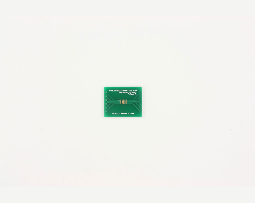 QFN-12 to DIP-16 SMT Adapter (0.5 mm pitch, 4 x 4 mm body, 1.6 x 2.8 mm pad)