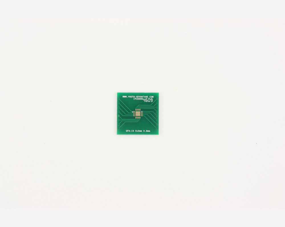 QFN-16 to DIP-20 SMT Adapter (0.8 mm pitch, 5 x 5 mm body, 2.7 x 2.7 mm pad)