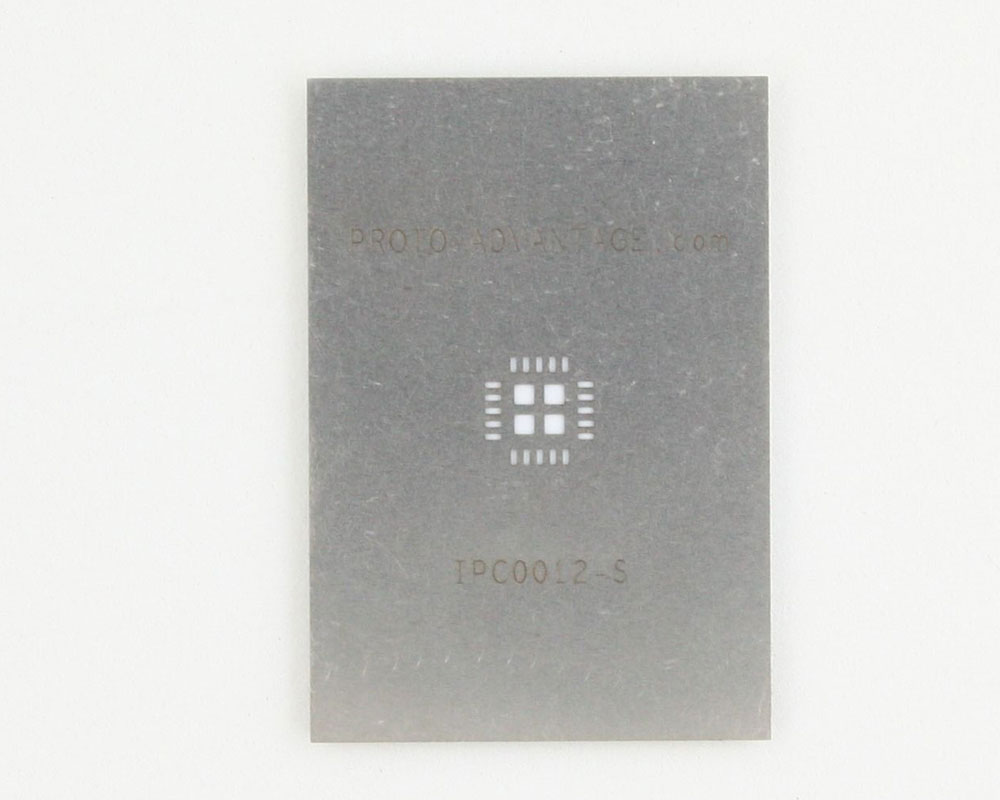 QFN-20 (0.65 mm pitch, 5 x 5 mm body, 3.1 x 3.1 mm pad) Stainless Steel Stencil