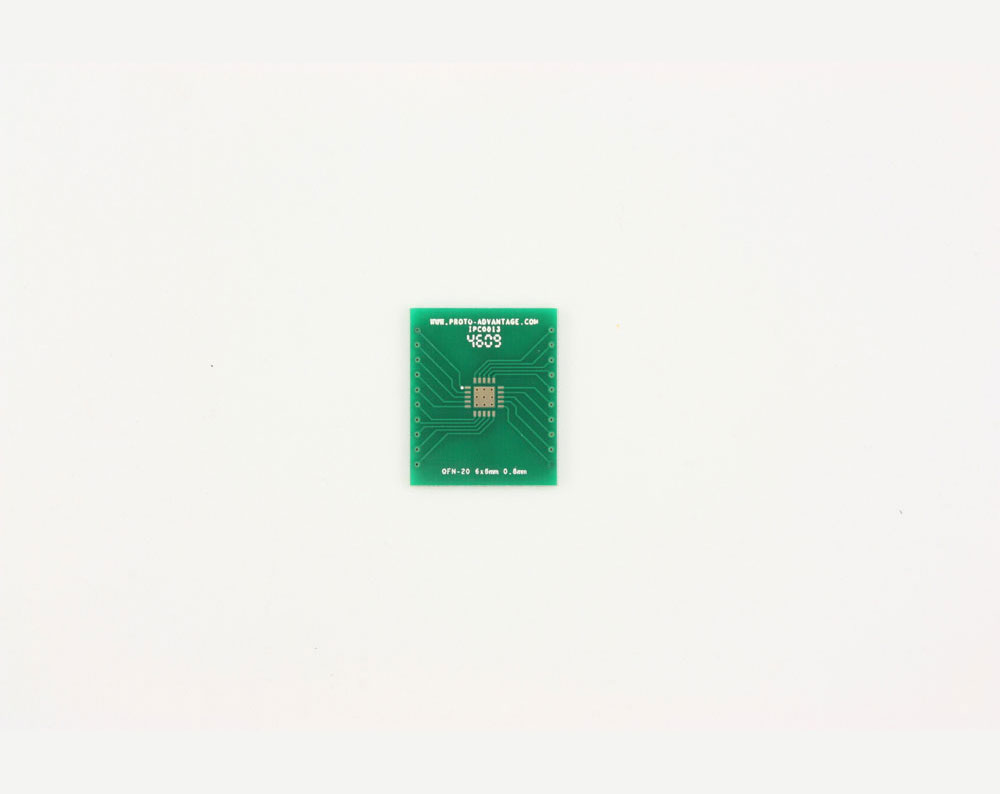 QFN-20 to DIP-24 SMT Adapter (0.8 mm pitch, 6 x 6 mm body, 3.4 x 3.4 mm pad)