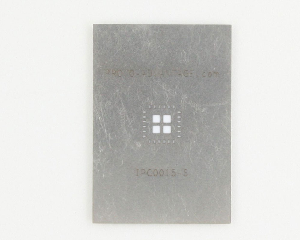 QFN-24 (0.8 mm pitch, 6 x 6 mm body, 3.8 x 3.8 mm pad) Stainless Steel Stencil