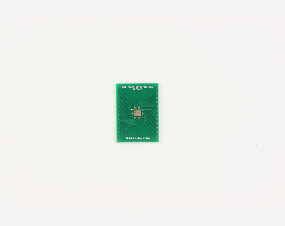 QFN-24 to DIP-28 SMT Adapter (0.8 mm pitch, 6 x 6 mm body, 3.8 x 3.8 mm pad)