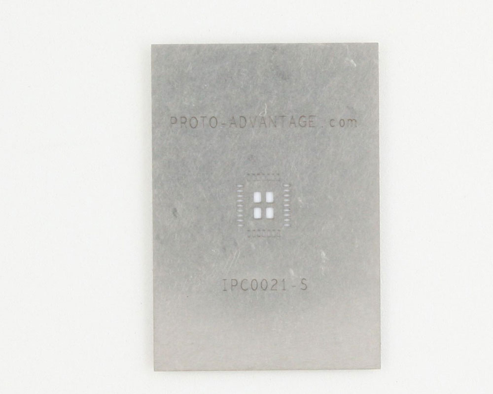 QFN-32 (0.5 mm pitch, 5 x 6 mm body, 2.48 x 3.4 mm pad) Stainless Steel Stencil