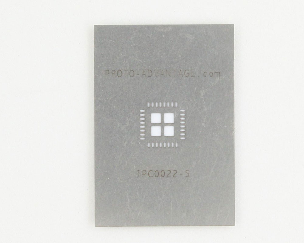 QFN-32 (0.65 mm pitch, 7 x 7 mm body, 4.7 x 4.7 mm pad) Stainless Steel Stencil
