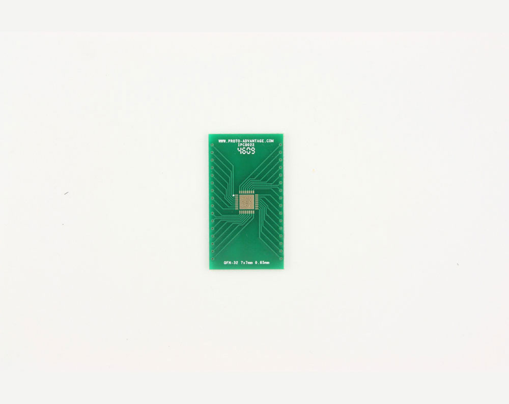 QFN-32 to DIP-36 SMT Adapter (0.65 mm pitch, 7 x 7 mm body, 4.7 x 4.7 mm pad)