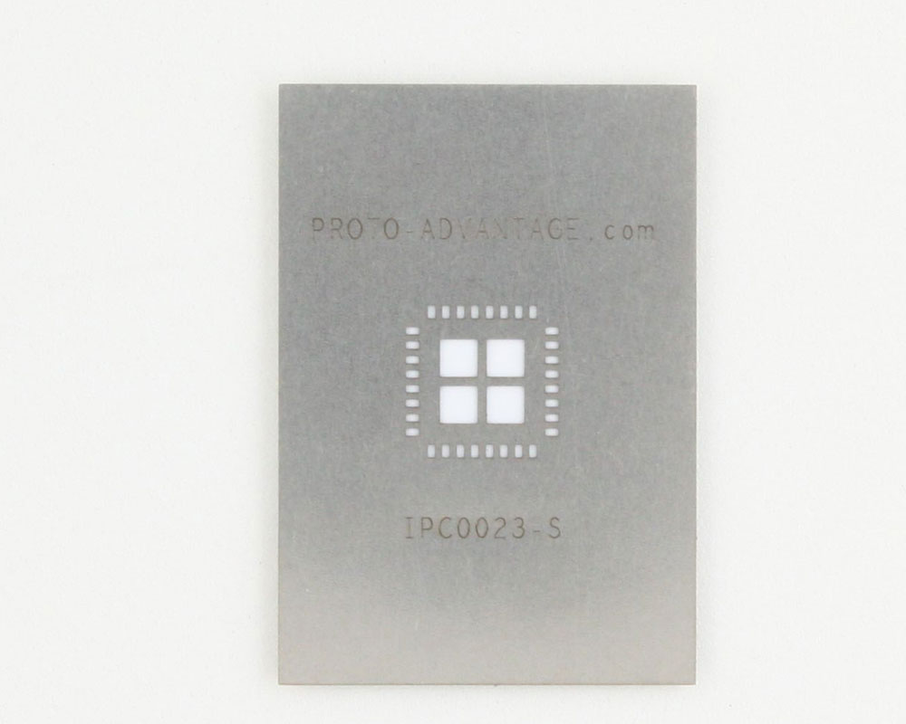 QFN-32 (0.8 mm pitch, 8 x 8 mm body, 5.8 x 5.8 mm pad) Stainless Steel Stencil