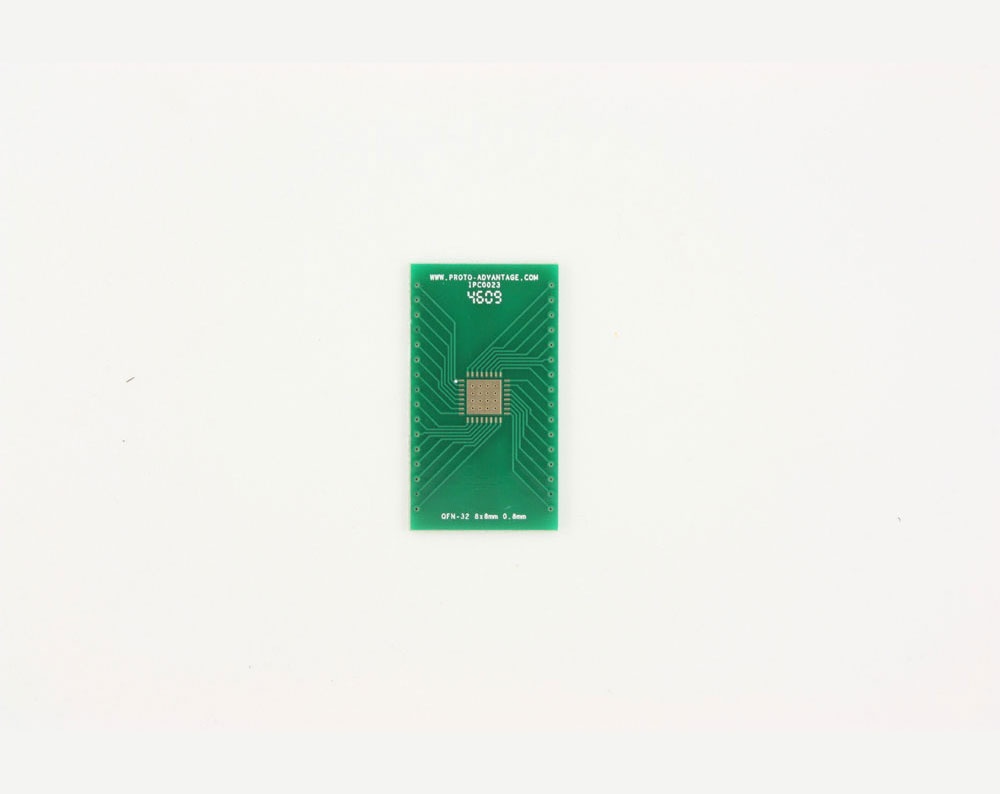 QFN-32 to DIP-36 SMT Adapter (0.8 mm pitch, 8 x 8 mm body, 5.8 x 5.8 mm pad)