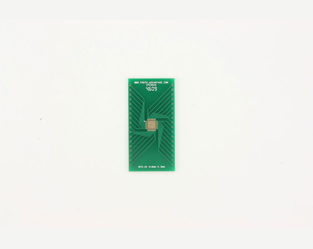 QFN-36 to DIP-40 SMT Adapter (0.5 mm pitch, 6 x 6 mm body, 4.1 x 4.1 mm pad)