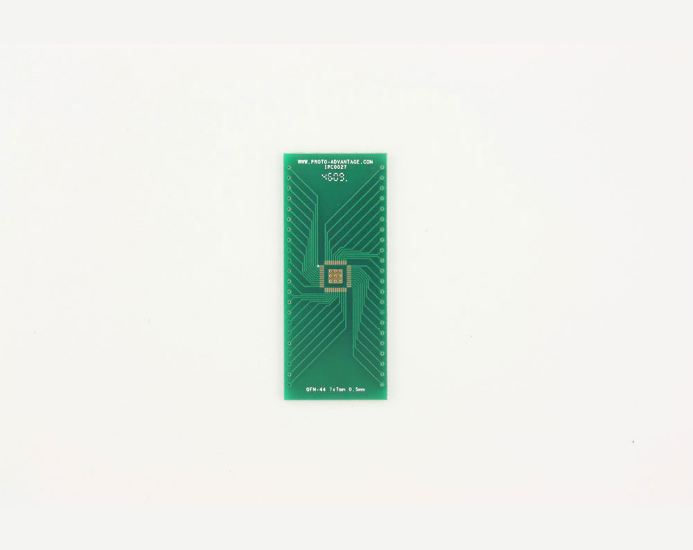 QFN-44 to DIP-48 SMT Adapter (0.5 mm pitch, 7 x 7 mm body, 3.3 x 3.3 mm pad)