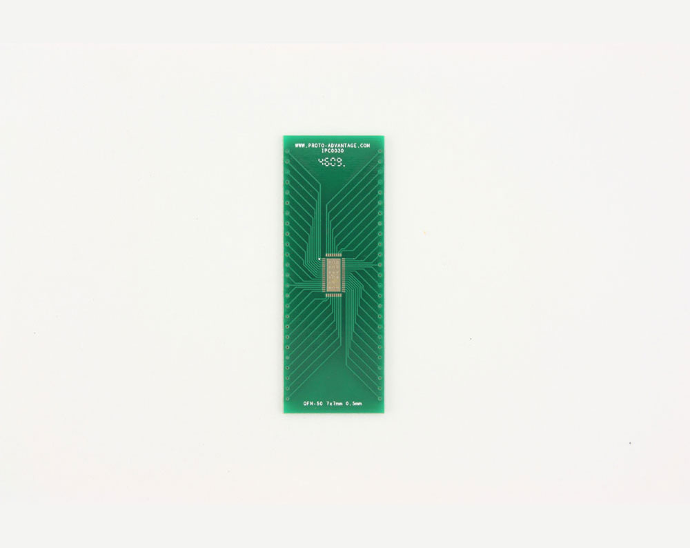 QFN-50 to DIP-54 SMT Adapter (0.5 mm pitch, 5 x 10 mm body, 3.3 x 8.1 mm pad)