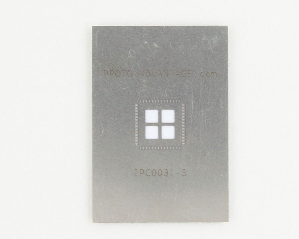 QFN-56 (0.5 mm pitch, 8 x 8 mm body, 6.1 x 6.1 mm pad) Stainless Steel Stencil