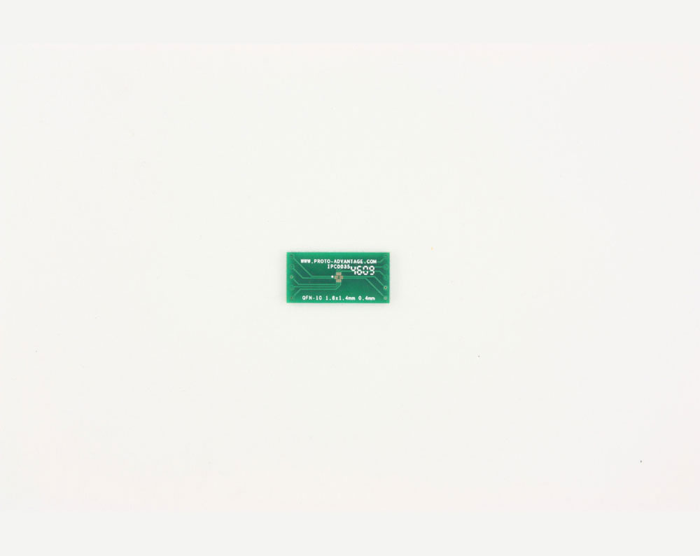 QFN-10 to DIP-10 SMT Adapter (0.4 mm pitch, 1.8 x 1.4 mm body)