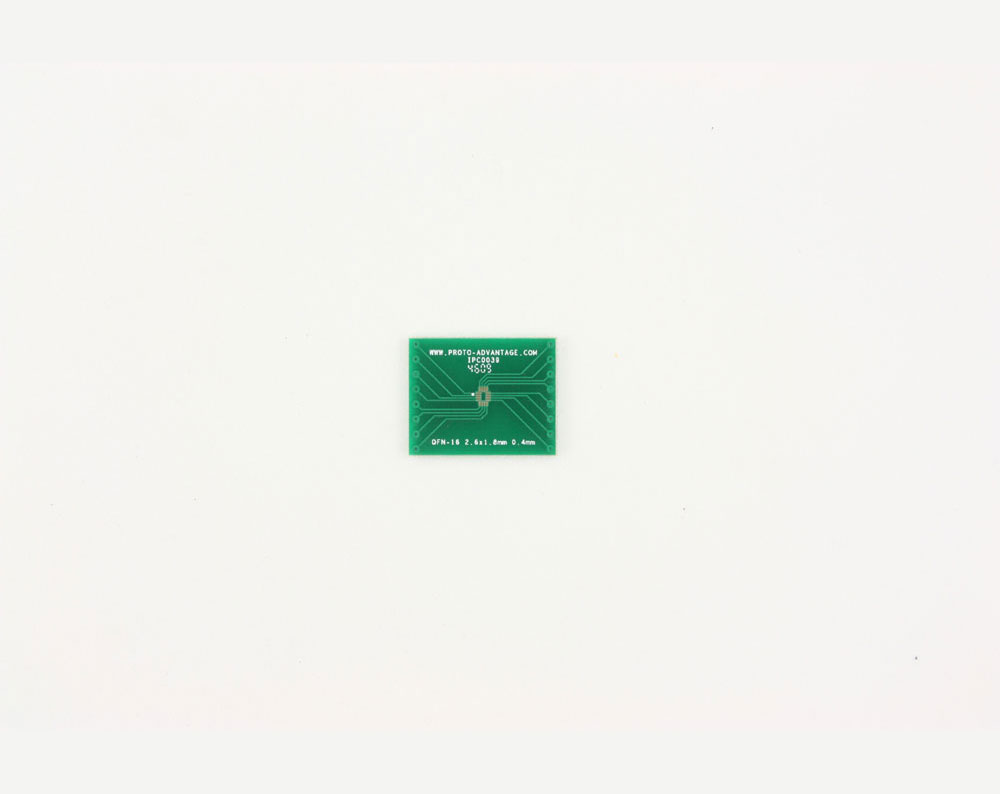 QFN-16 to DIP-16 SMT Adapter (0.4 mm pitch, 2.6 x 1.8 mm body)