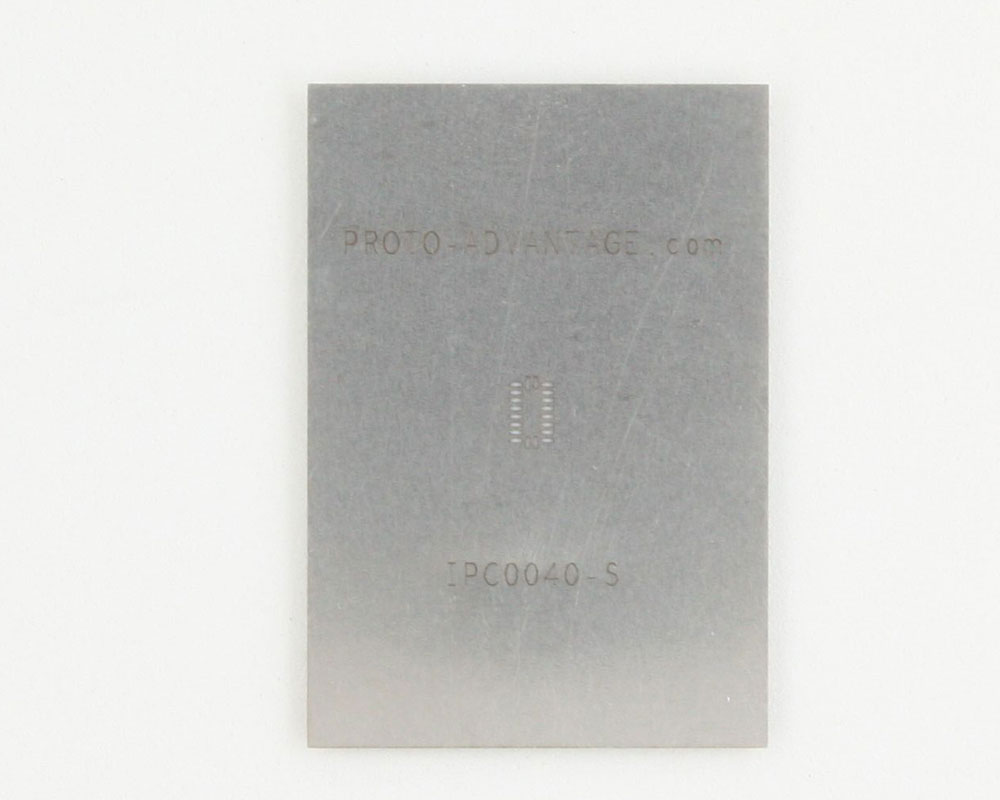 QFN-20 (0.4 mm pitch, 3.2 x 1.8 mm body) Stainless Steel Stencil
