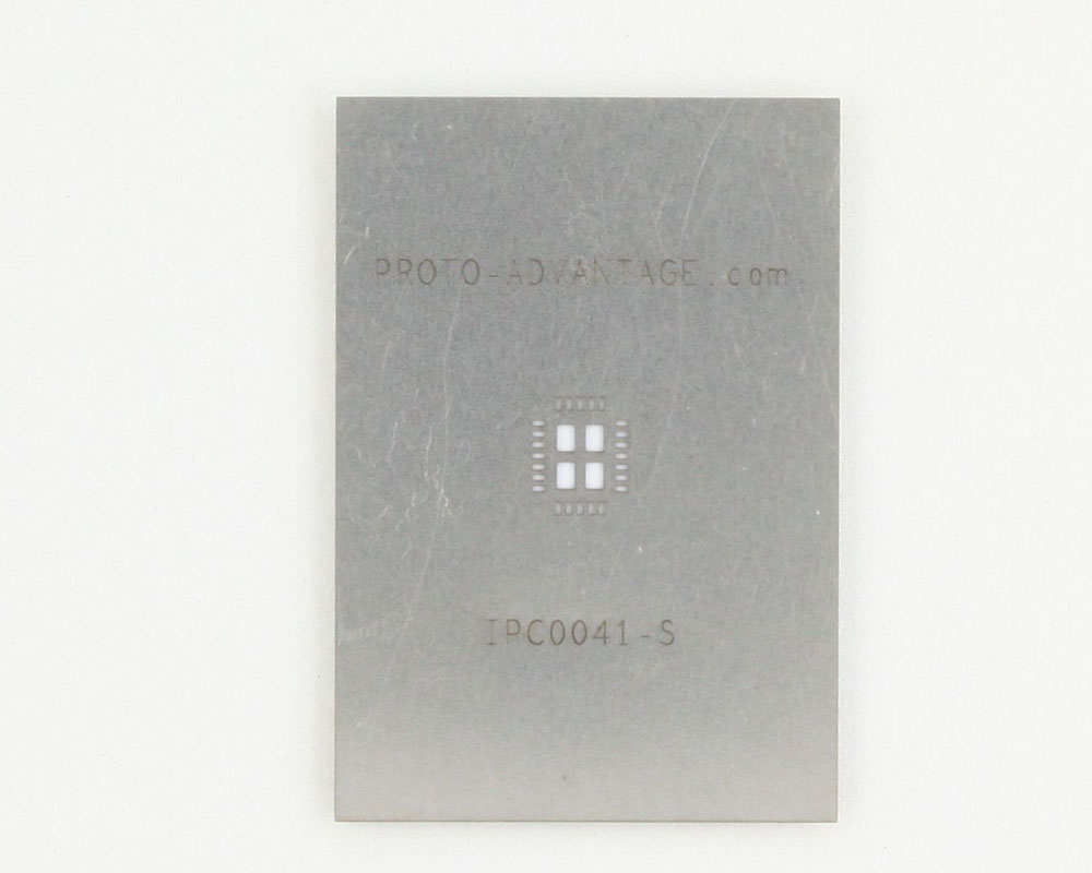 QFN-24 (0.5 mm pitch, 4 x 5 mm body, 2.65 x 3.65 mm pad) Stainless Steel Stencil
