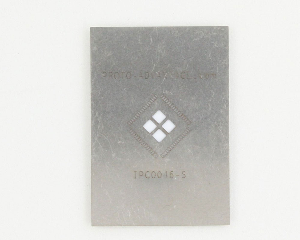QFN-68 (0.4 mm pitch, 8 x 8 mm body, 4.9 x 4.9 mm pad) Stainless Steel Stencil