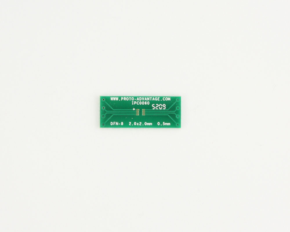 DFN-8 to DIP-8 SMT Adapter (0.5 mm pitch, 2.0 x 2.0 mm body)