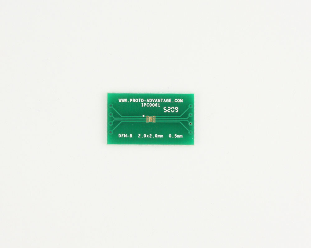 DFN-8 to DIP-12 SMT Adapter (0.5 mm pitch, 2.0 x 2.0 mm body)