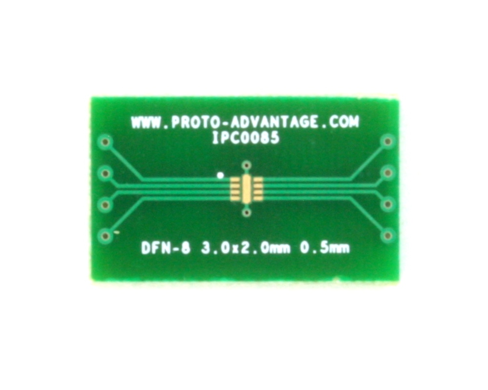 DFN-8 to DIP-12 SMT Adapter (0.5 mm pitch, 3.0 x 2.0 mm body)