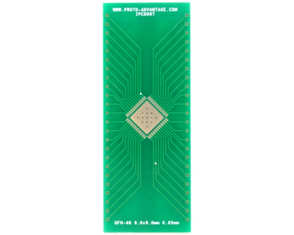 QFN-48 to DIP-52 SMT Adapter (0.65 mm pitch, 9.0 x 9.0 mm body, 6.8 x 6.8 mm pad