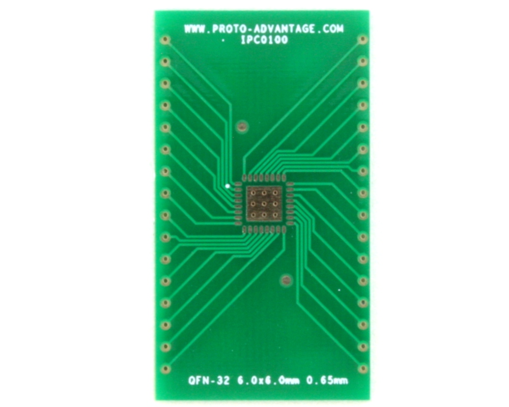 QFN-32 to DIP-36 SMT Adapter (0.65 mm pitch, 6.0 x 6.0 mm body)