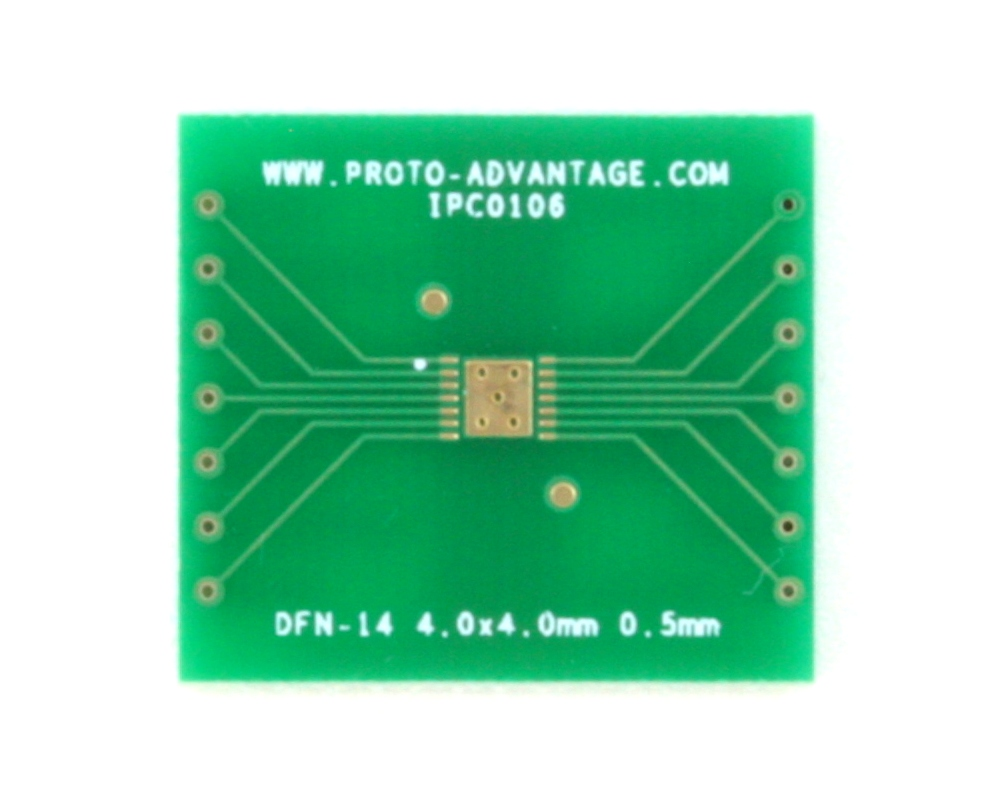 DFN-14 to DIP-18 SMT Adapter (0.5 mm pitch, 4.0 x 4.0 mm body)