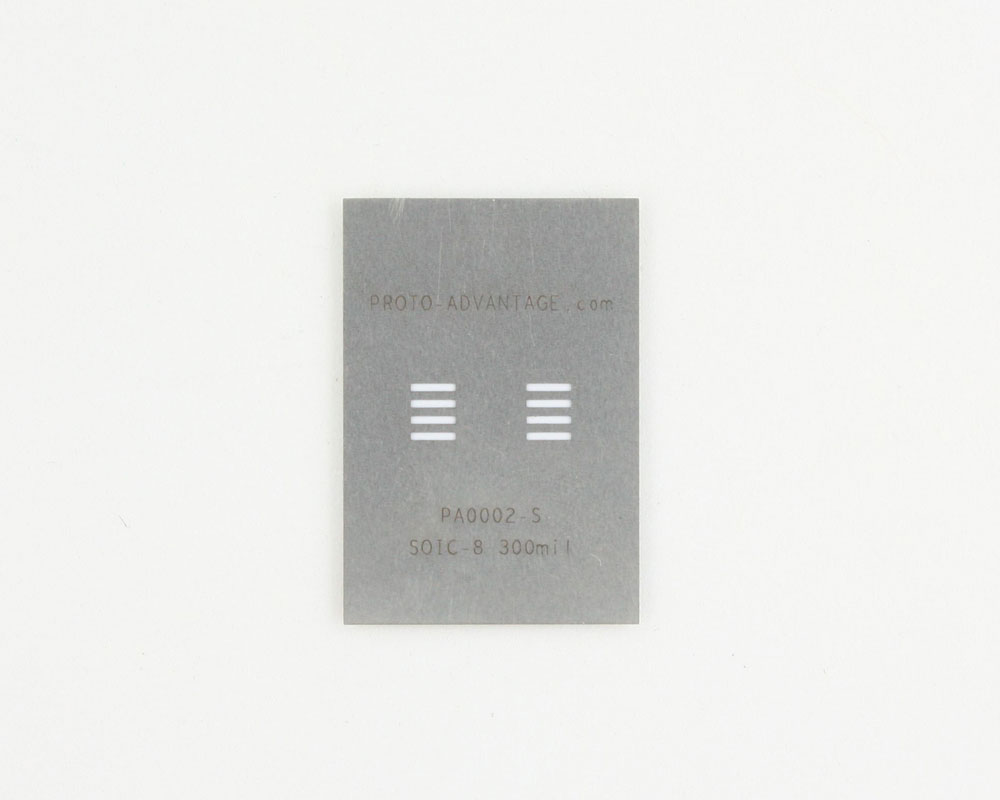 SOIC-8 (1.27 mm pitch, 300 mil body) Stainless Steel Stencil