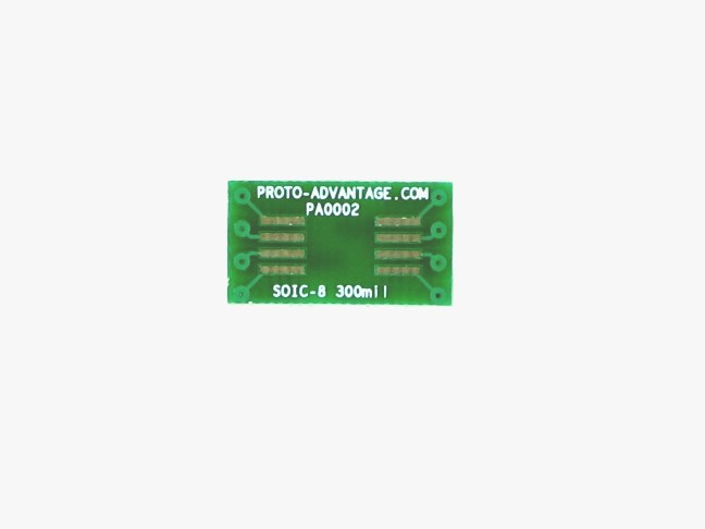 SOIC-8 to DIP-8 SMT Adapter (1.27 mm pitch, 300 mil body)