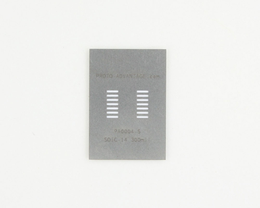 SOIC-14 (1.27 mm pitch, 300 mil body) Stainless Steel Stencil