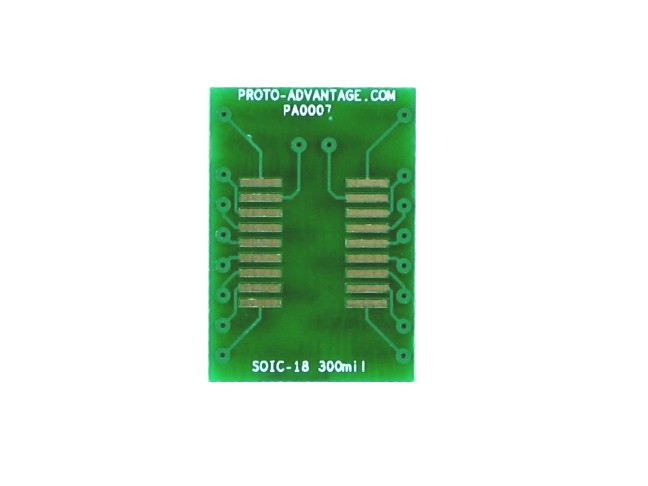 SOIC-18 to DIP-18 SMT Adapter (1.27 mm pitch, 300 mil body)