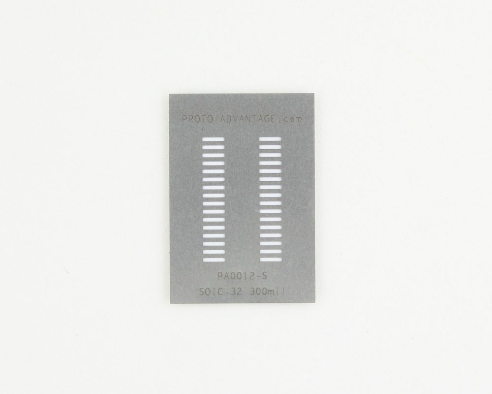 SOIC-32 (1.27 mm pitch) Stainless Steel Stencil