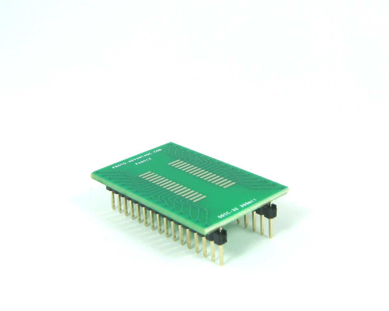 1.27 mm pitch, 300 mil body Proto-Advantage SOIC-16 to DIP-16 SMT Adapter