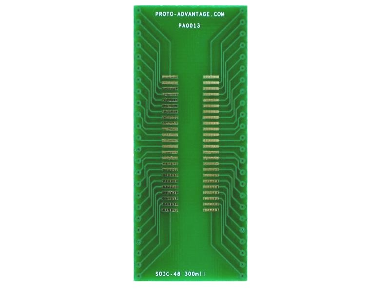 SOIC-48 to DIP-48 SMT Adapter (1.27 mm pitch, 300 mil body)