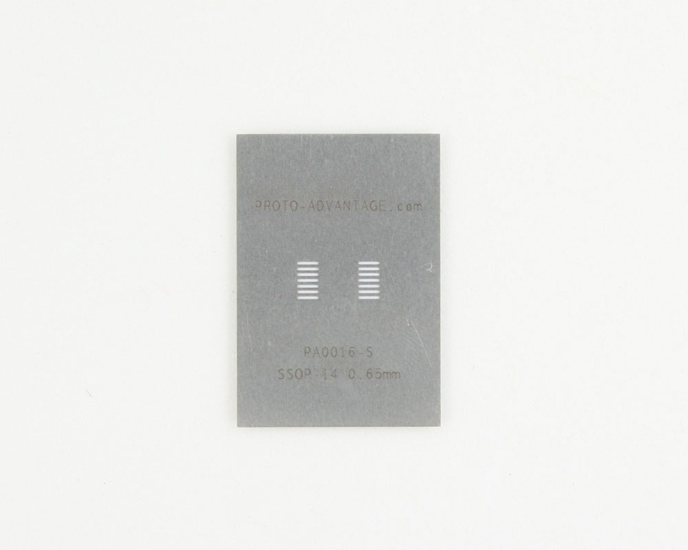 SSOP-14 (0.65 mm pitch) Stainless Steel Stencil