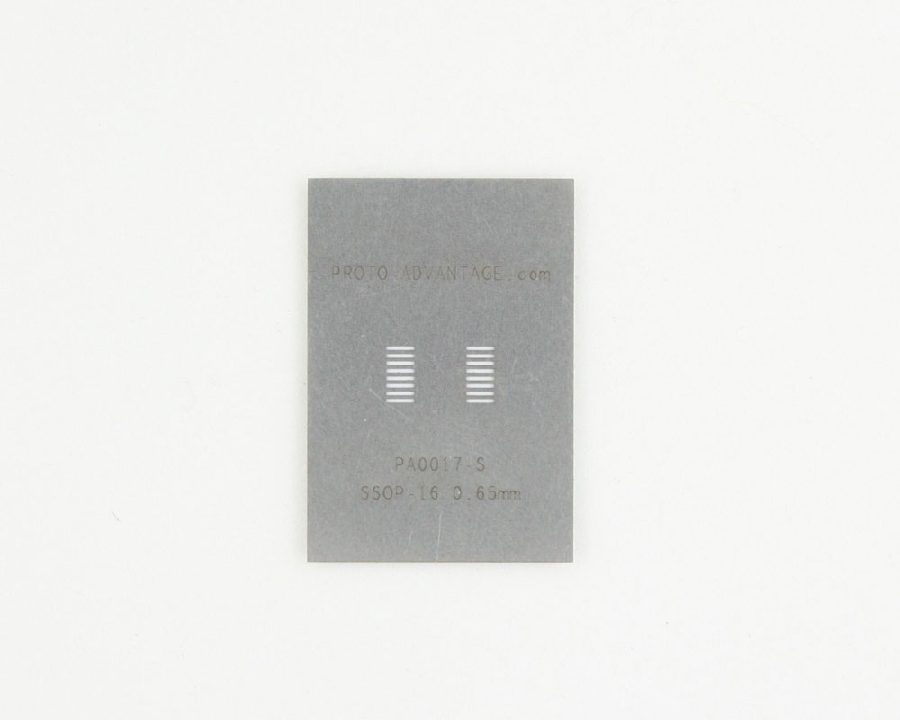 SSOP-16 (0.65 mm pitch) Stainless Steel Stencil