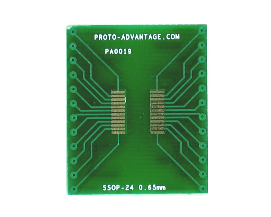 SSOP-24 to DIP-24 SMT Adapter (0.65 mm pitch)