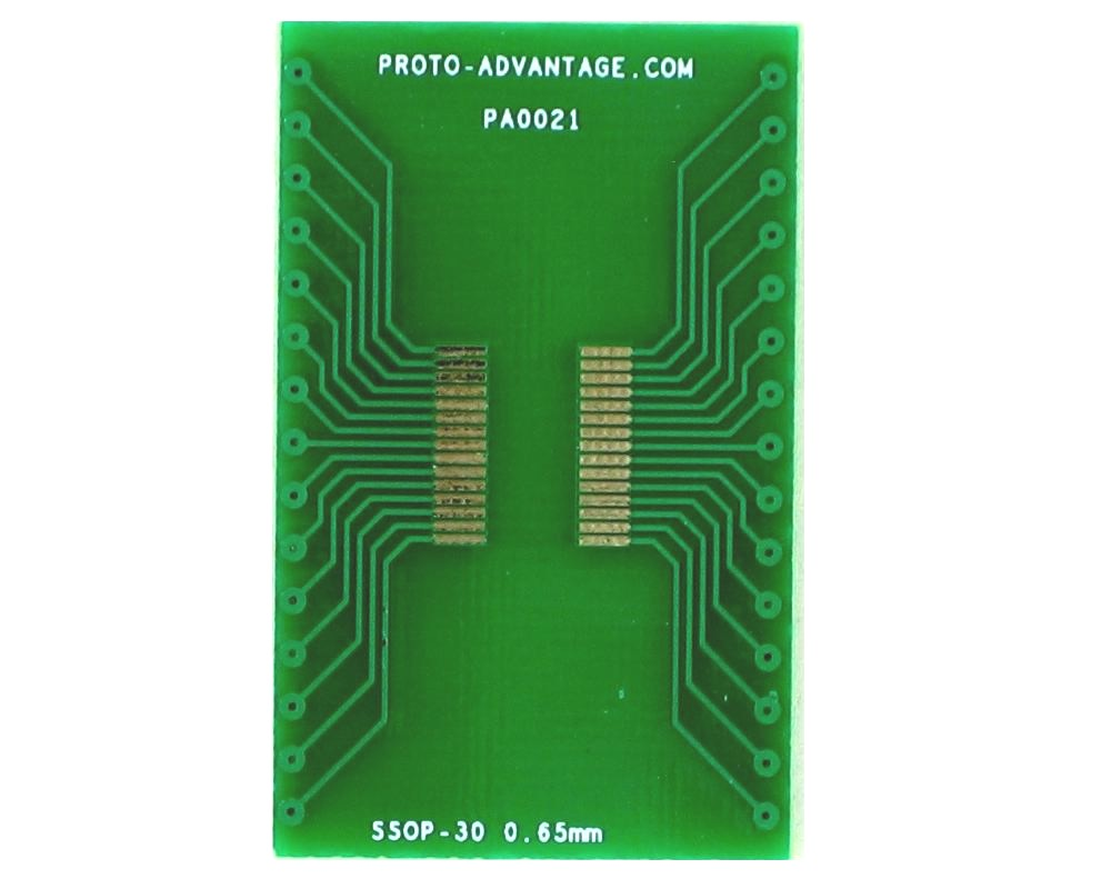 SSOP-30 to DIP-30 SMT Adapter (0.65 mm pitch)